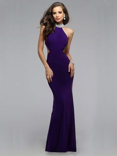 Trumpet/Mermaid Sleeveless High Neck Jersey Beading Floor-Length Dresses
