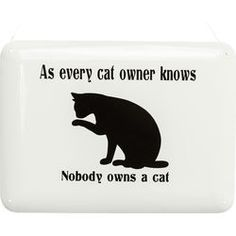 Wall Deco Sign Cat Owner KARE  Wall Deco Sign Cat Owner    10,00 €