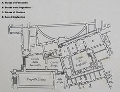 """Le Stanze Vaticane,o stanze di Raffaello, sono 4 sale in sequenza che fanno parte dei Musei Vaticani. Da ovest a est troviamo la """"Stanza dell'Incendio"""",la""""Stanza della Segnatura"""",la""""Stanza di Eliodoro""""e la""""Sala di Costantino"""".Questa commissione nacque dal desiderio di Papa Giulio II di abitare altri ambienti dei palazzi vaticani,non volendo usare l'appartamento già utilizzato da papa Alessandro VI. Le prime tre stanze sono coperte da una volta a crociera,la quarta aveva un soffitto di travi."""