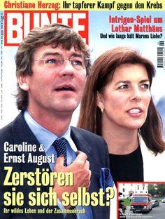 BUNTE - Titelblatt vom 21.06.2000 - Prinzessin Caroline von Monaco, Prinz Ernst-August von Hannover