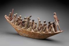 Model of a transport boat - Egyptian, Middle Kingdom, late Dynasty 11 – early Dynasty, B. Ancient Egyptian Tombs, Egyptian Mythology, Ancient Art, Ancient History, Egyptian Models, Ptolemaic Dynasty, Sea Peoples, Aboriginal History, Ancient Civilizations