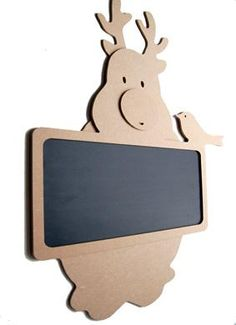 MDF Chalkboard Reindeer For Painting . one of our wooden items for Christmas. How many days left until xmas Router Projects, Wood Projects, Woodworking Projects, Laser Cutter Projects, Wood Worker, Wood Painting Art, New Years Decorations, Love Craft, Wooden Crafts