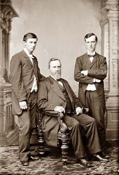 Hayes, President Rutherford B. and two sons