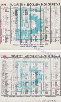 1976 - 1976_0483 - Régi magyar kártyanaptárak