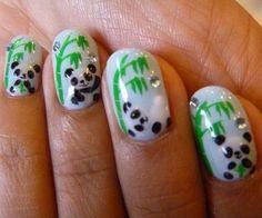 Cute Panda Nails | Cute Nail Art Designs