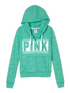 Beach Zip Hoodie - PINK - Victoria's Secret from Victoria's Secret. Shop more products from Victoria's Secret on Wanelo. Sweater Hoodie, Zip Hoodie, Pink Outfits, Cool Outfits, Victoria Secret Outfits, Victoria Secrets, Slim Fit Hoodie, Pink Wardrobe, Pink Nation
