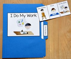 This FREE folder story is a social story that targets the behavior of completing work appropriately. Use this folder story with students who have difficulty with staying on task. Early Learning Activities, Hands On Activities, Therapy Activities, Cookie Sheet Activities, Work Folders, File Folders, Teaching Social Skills, Student Teaching, Autism Support