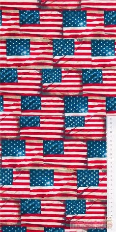 """white stars on blue, red and white stripes cotton fabric, American USA flag in rows, Material: 100% cotton, Fabric Type: smooth cotton fabric, Fabric Width: 112cm (44"""") #Cotton #FamousPlaces #Landmarks #USAFabrics Retro Fabric, Striped Fabrics, Red And White Stripes, Usa Flag, Fabric Patterns, Cotton Fabric, Stars, Smooth, Sterne"""