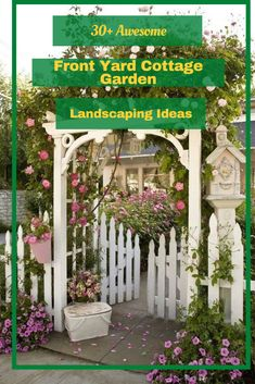 30+ Awesome Front Yard Cottage Garden Landscaping Ideas #gardenlandscapingideas Landscaping Ideas, Garden Landscaping, Garden Styles, Garden Design, Yard, Cottage, Outdoor Structures, Landscape, Awesome