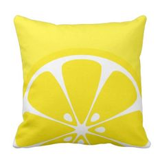 Trendy Shiny Yellow Lemon Throw Pillow. *** Discover more at the photo link
