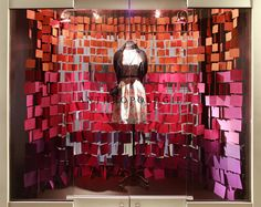 Color #7 (monochromatic): Love this! Lots of texture & movement     Colour Window Display 2014