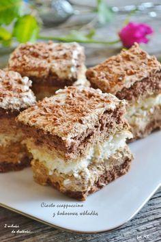Cappuccino z kokosową wkładką Polish Desserts, Polish Recipes, Baking Recipes, Cookie Recipes, Dessert Recipes, Sweets Cake, Pumpkin Cheesecake, How Sweet Eats, Yummy Cakes