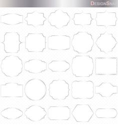 Silver Digital Frames, Classic Frames, Digital Clipart, Digital Frame, Clipart Frames, Frames Clipart, Basic Frames, Scrapbooking frames  - 1 Zip