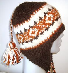Ear flap hat Unisex Hat Hand Knitted for Mens and by earflaphats, $45.00