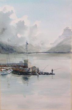 Pescando a Terracina Watercolour