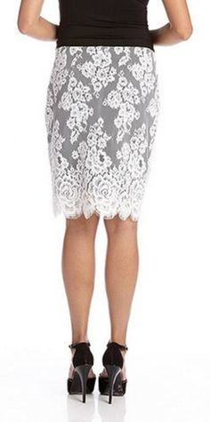 Love this GORGEOUS Scallop lace contrast skirt! - if the skirt was just A LITTLE shorter...