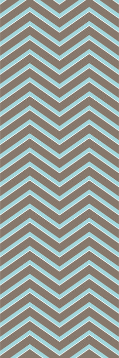 Custom printed Chevron wallpaper from the 'EMU' colour range #chevron #wallpaper #muurgraphics
