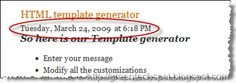 change position of date in Blogger