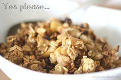 Apple Pecan Oat Crumble, dessert for breakfast!!