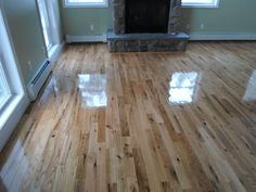 Rustic Oak sand and finish in Friend's Lake Chestertown, NY. Done by Superior Floors.