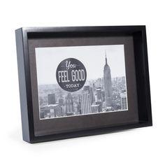 Cadre photo en bois noir 18 x 23 cm MALMO