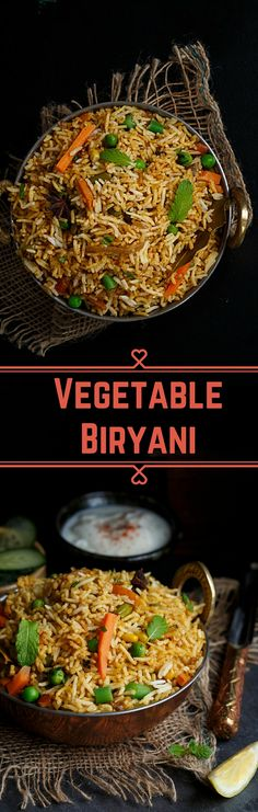 Full Proof Easy Vegetable Biryani Recipe that will leave your guest lip smacking veg recipes Veg Recipes, Easy Healthy Recipes, Indian Food Recipes, Asian Recipes, Healthy Snacks, Vegetarian Recipes, Cooking Recipes, Arabic Recipes, Indian Food Vegetarian