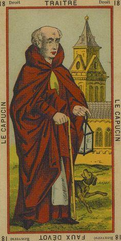 XVIII- Traitor- False Devout The Capuchin (The Hermit) - Etteilla Tarot: Book of Thoth