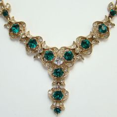 C194050 Bogoff Real Look Rhinestone Choker Necklace by redroselady, $155.00