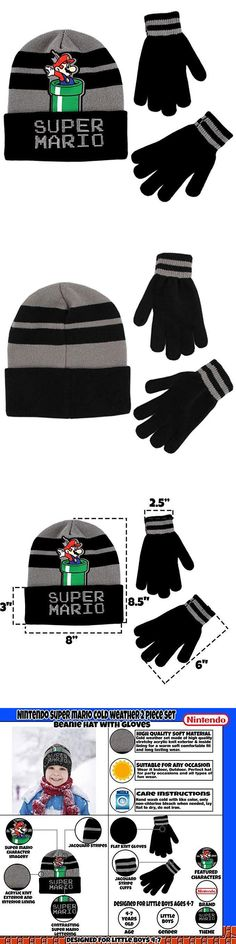 ecdc8d1b291a5 Boys Accessories 57881  Super Mario Boys Beanie Winter Hat And Glove Set   4015