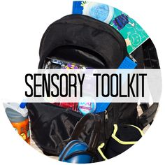 Sensory Kit for School or Home | Sensory Tools to help calm and soothe children #sensory #backtoschoolwithkbn #backtoschool #newteachers
