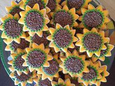 Cindy's 40th Birthday Sunflower Sugar Cookies