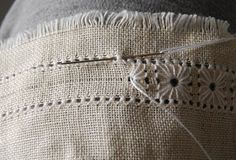 pulled thread edge tutorial