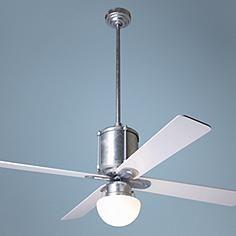 """50"""" Modern Fan Industry Galvanized with Light Ceiling Fan"""