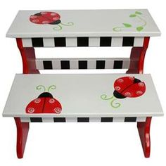 Blue Ladybug Paint Childrens Furniture - Shop and Save!