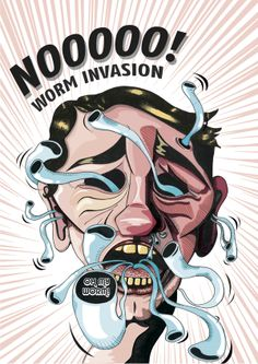 Worm Invasion by Ronel Swanepoel, via Behance