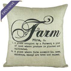 Cotton-linen throw pillow. Handmade in the USA.  Product: PillowConstruction Material: Cotton and linen blend