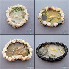 Miniature Stone Koi Ponds by Bon-AppetEats.deviantart.com on @deviantART