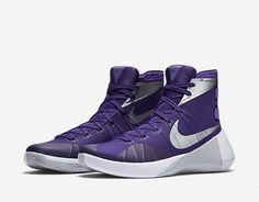Nike Men's Hyperdunk 2015 TB Basketball Shoes 749645 505 Purple/White #Nike…