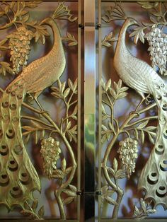 art deco peacock door