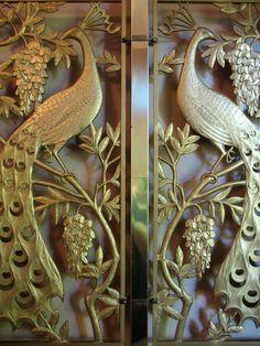 art deco peacock door