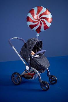 Personnalisé superbe landau charme dans turquoise royal pour bébé garçons filles