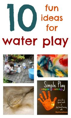 Great ideas for kids activities: water play | NurtureStore :: inspiration for kids