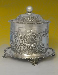 Silver Biscuit container
