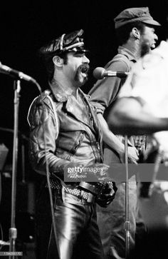 American Disco group the Village People perform onstage at the Park. Leather Toms, Tom Of Finland, Village People, Moustache, Vintage Leather, American, Rock And Roll, Group, Park