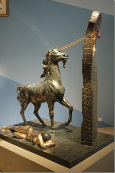 Unicorn, first conceived 1977 first cast 1984, bronze - Salvador Dali. #DALI