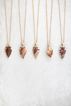 Arrow spear stone necklace with a boho flare.