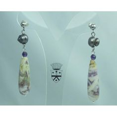 Earrings with 1st quality gray freshwater pearls, jasper and amethyst. Nickel free rhodium plated brass snap