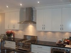 Bright White Shaker Cabinets - kitchen cabinets - other metro - by Style Line Custom Hardwood Doors & Wood Products