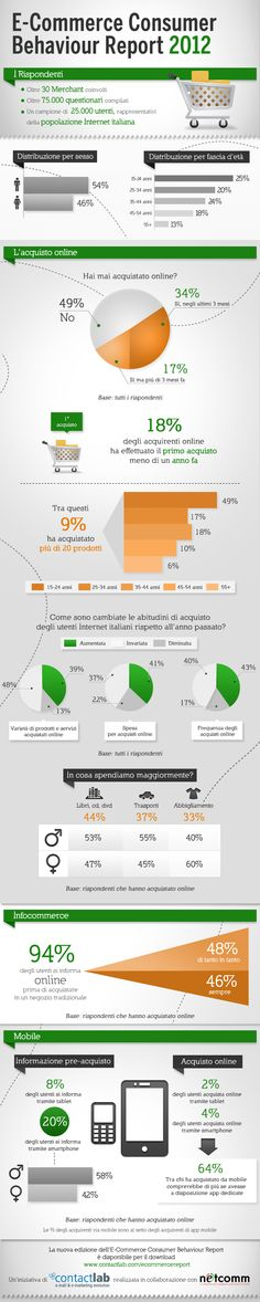 E-Commerce Italia 2012 #infografica
