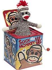 Sock Monkey-in-the-Box, a Classic Twist on an Old Favorite